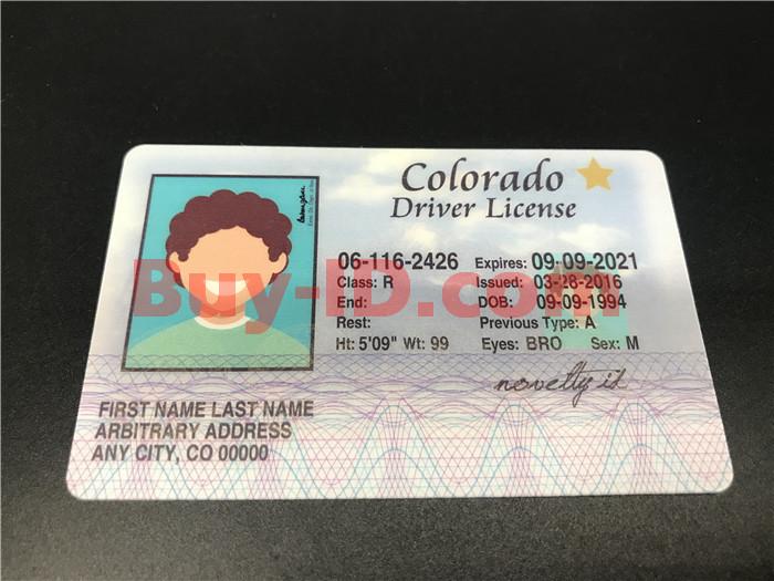 Colorado ID Front