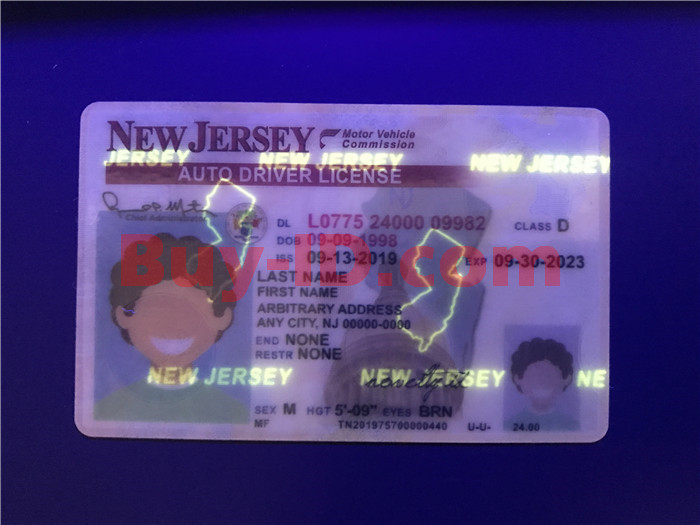 New jersey ID UV rendering