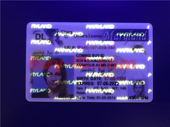 Maryland ID UV rendering