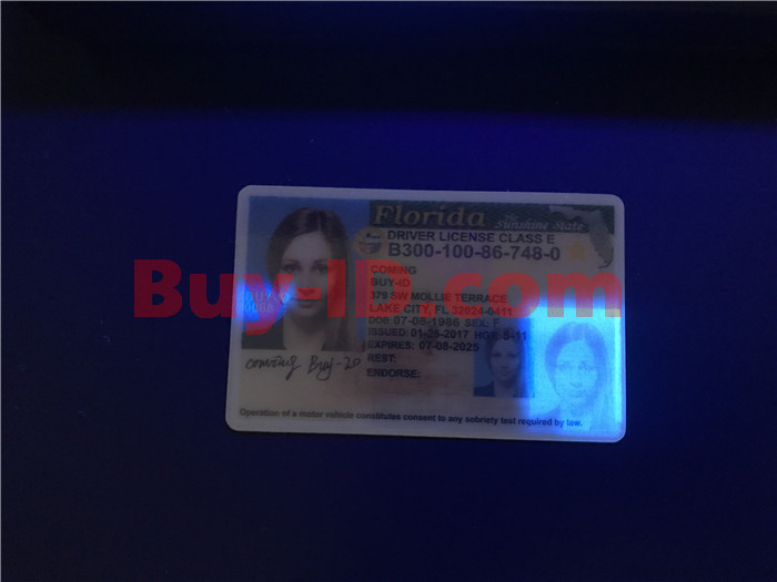 Florida ID UV rendering