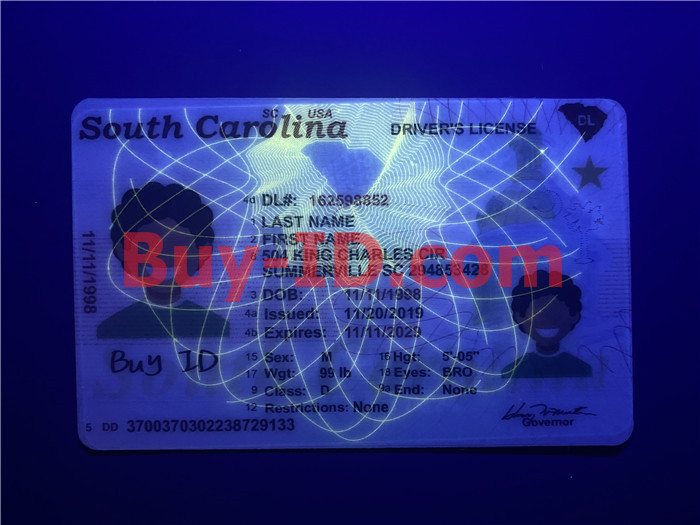 South Carolina ID UV