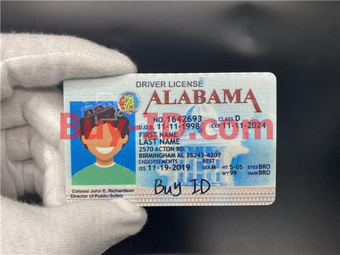 Alabama ID Hologram