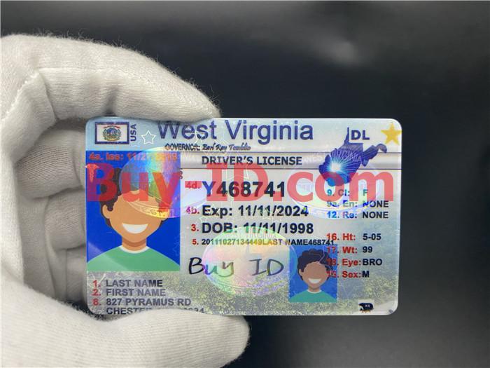 West Virginia ID Hologram