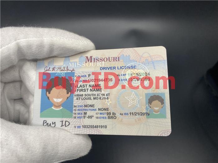 Missouri ID Hologram