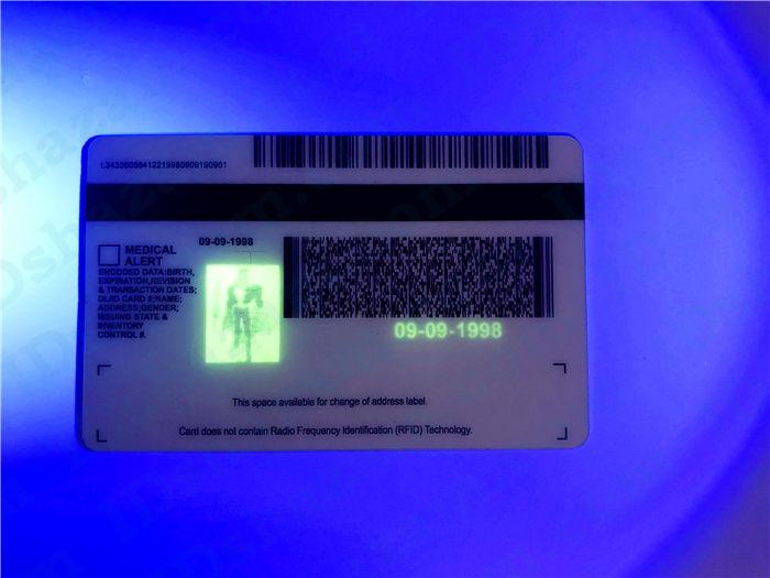 Premium Scannable Michigan State Fake ID Card UV Anti-Counterfeiting Layer2