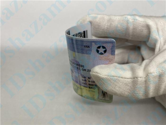 Premium Scannable Oregon State Fake ID Card Bending Display