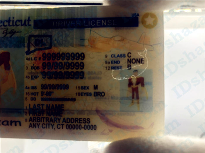 Premium Scannable Connecticut State Fake ID Card Laser Micro-Perforation