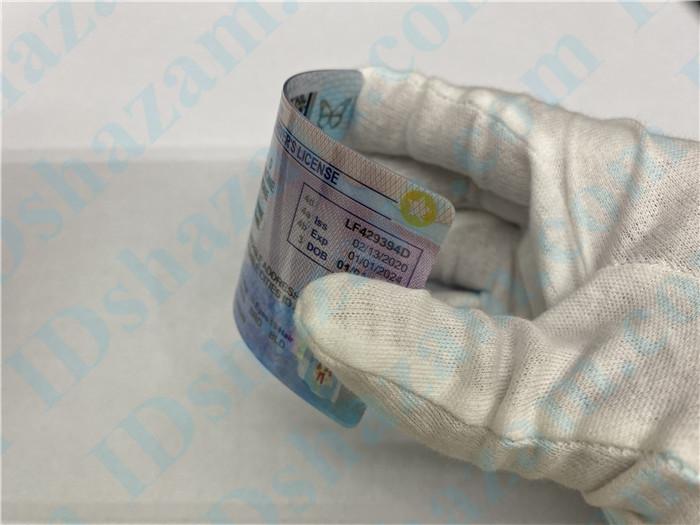 Premium Scannable Idaho State Fake ID Card Bending Display