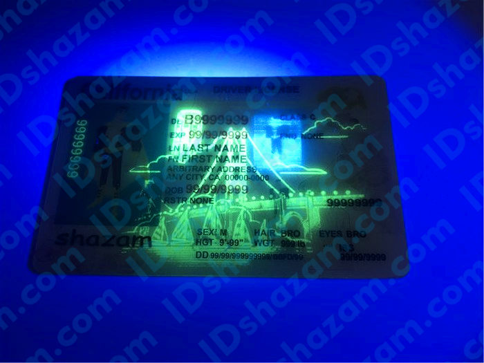 Premium Scannable New California State Fake ID Card UV anti-counterfeiting layer