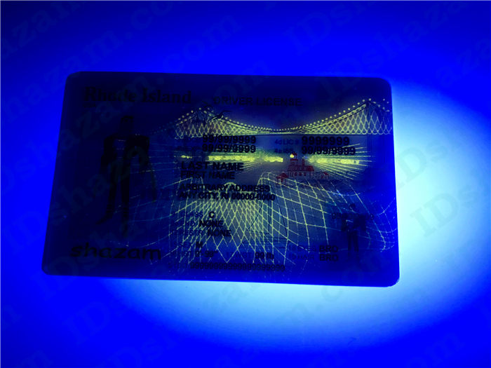 Premium Scannable Rhode Island State Fake ID Card UV Anti-Counterfeiting Layer