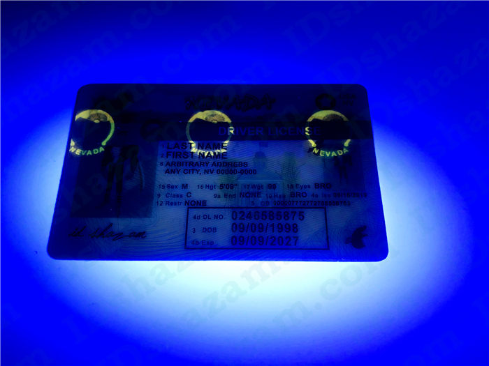 Premium Scannable Nevada State Fake ID Card UV Anti-Counterfeiting Layer