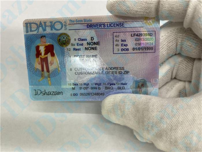 Premium Scannable Idaho State Fake ID Card Surface Engraving