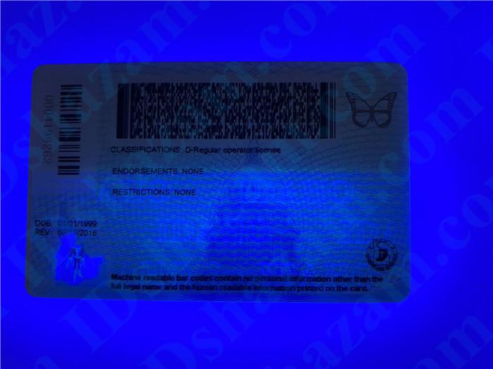 Premium Scannable Idaho State Fake ID Card UV Anti-Counterfeiting Layer 2