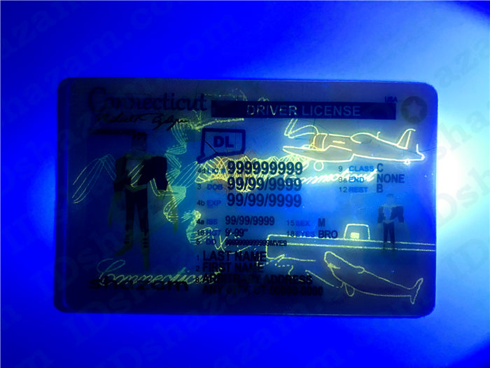 Premium Scannable Connecticut State Fake ID Card UV Anti-Counterfeiting Layer