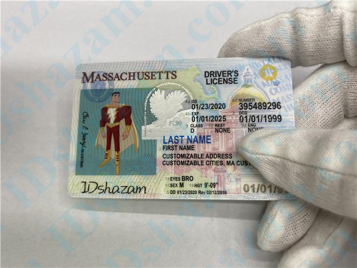 Premium Scannable Massachusetts State Fake ID Card Handheld Display