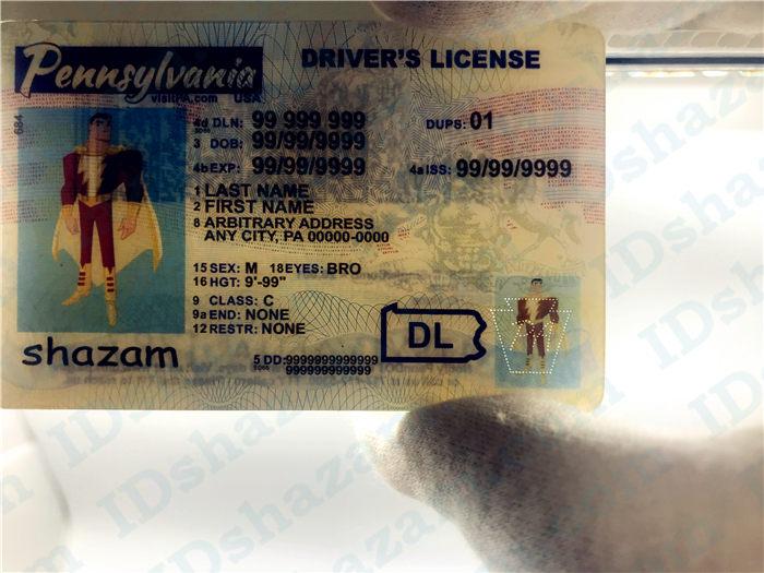 Premium Scannable Pennsylvania State Fake ID Card Laser Micro-Perforation