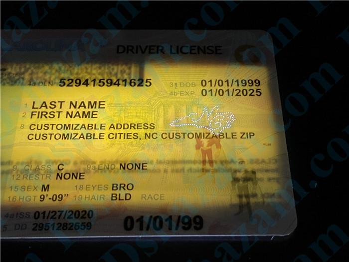 Premium Scannable North Carolina State Fake ID Card Laser Micro-Perforation