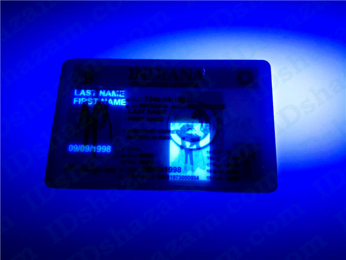 Premium Scannable Indiana State Fake ID Card UV Anti-Counterfeiting Layer