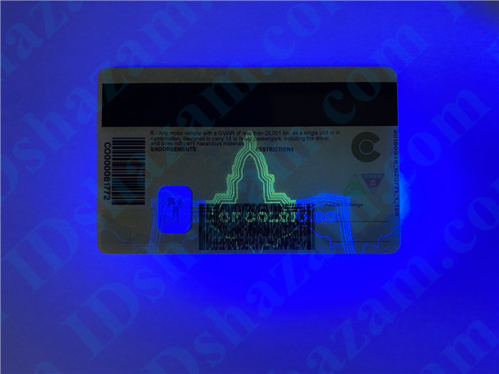 Premium Scannable New Colorado State Fake ID Card UV Anti-Counterfeiting Layer2