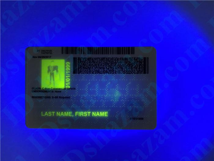 Premium Scannable Iowa State Fake ID Card UV Anti-Counterfeiting Layer 2
