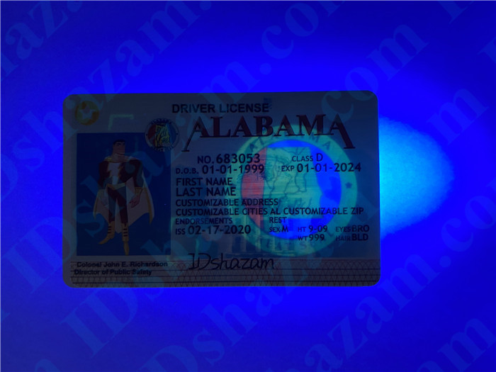Premium Scannable Alabama State Fake ID Card UV Anti-Counterfeiting Layer