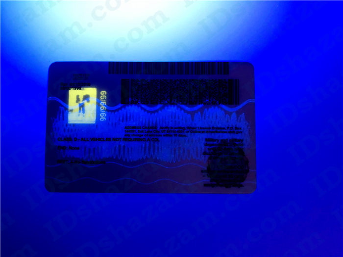 Premium Scannable Utah State Fake ID Card UV Anti-Counterfeiting Layer2