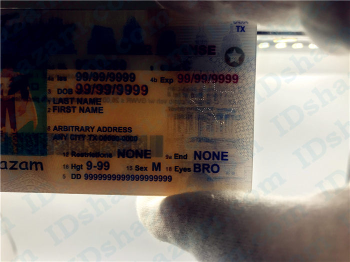 Premium Scannable Texas State Fake ID Card Laser Micro-Perforation