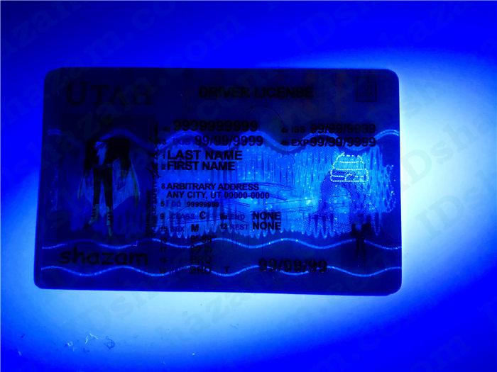 Premium Scannable Utah State Fake ID Card UV Anti-Counterfeiting Layer