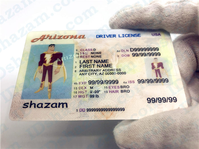 Premium Scannable Arizona State Fake ID Card
