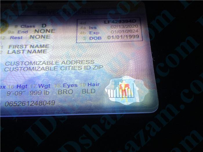 Premium Scannable Idaho State Fake ID Card Small Transparent Window