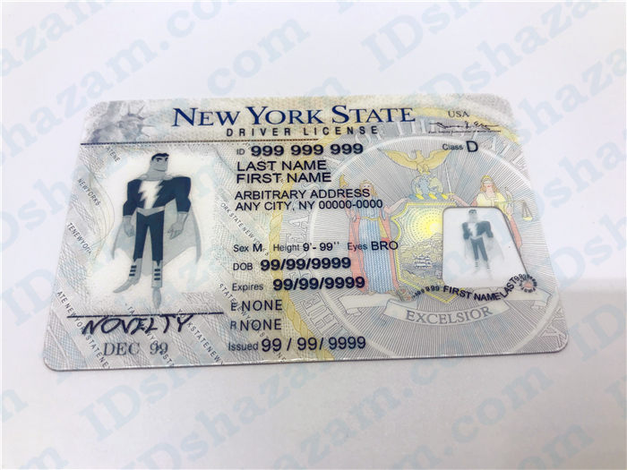 Premium Scannable New York State Fake ID Card Positive Display