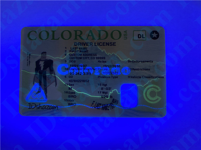 Premium Scannable New Colorado State Fake ID Card UV Anti-Counterfeiting Layer