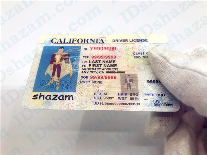 Premium Scannable Old California State Fake ID Card Handheld Display