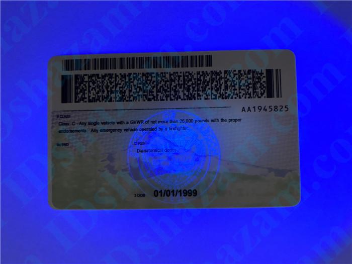 Premium Scannable Oregon State Fake ID Card UV Anti-Counterfeiting Layer 2