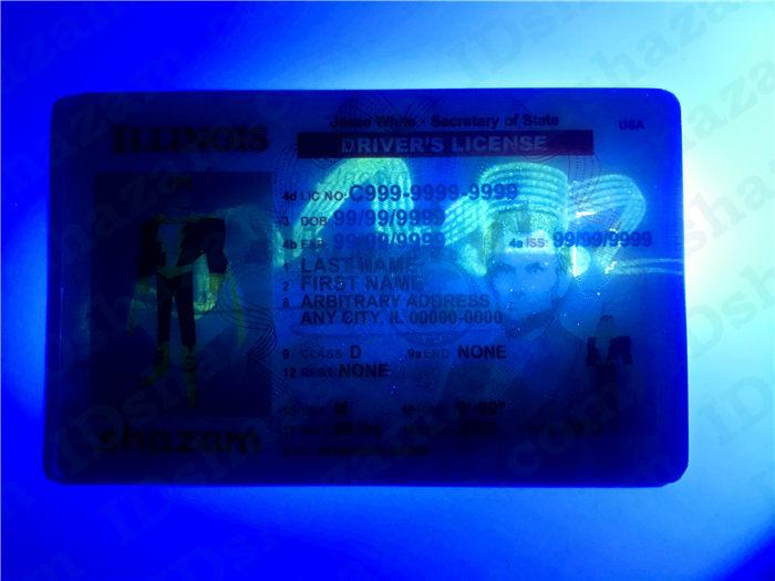 Premium Scannable Illinois State Fake ID Card UV Anti-Counterfeiting Layer