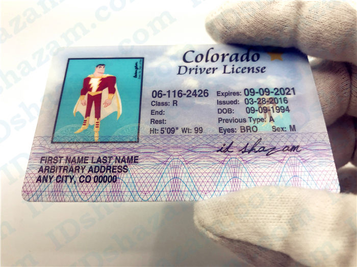 Premium Scannable Old Colorado State Fake ID Card Handheld Display