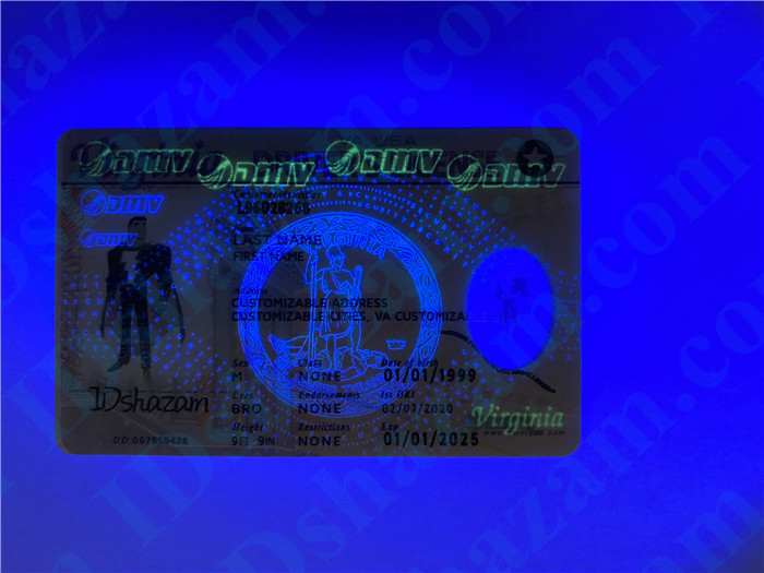 Premium Scannable Virginia State Fake ID Card UV Anti-Counterfeiting Layer