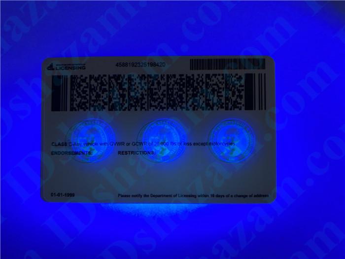 Premium Scannable Washington State Fake ID Card UV Anti-Counterfeiting Layer