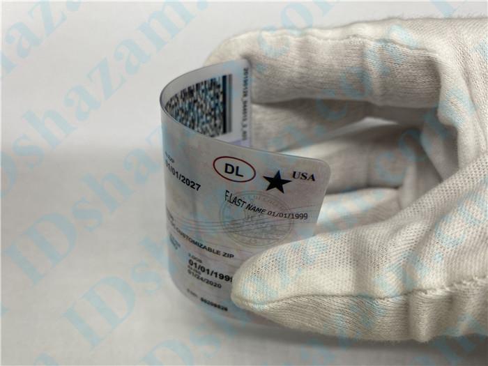 Premium Scannable Washington DC State Fake ID Card Bending Display
