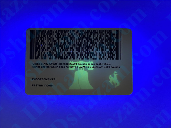 Premium Scannable Wyoming State Fake ID Card UV Anti-Counterfeiting Layer 2