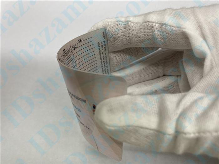 Premium Scannable United Kingdom Fake ID Card Bending Display