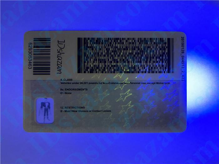 Premium Scannable Washington DC State Fake ID Card UV Anti-Counterfeiting Layer 2