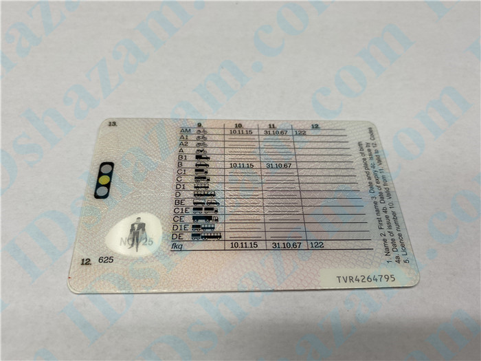 Premium Scannable United Kingdom Fake ID Card Back Display