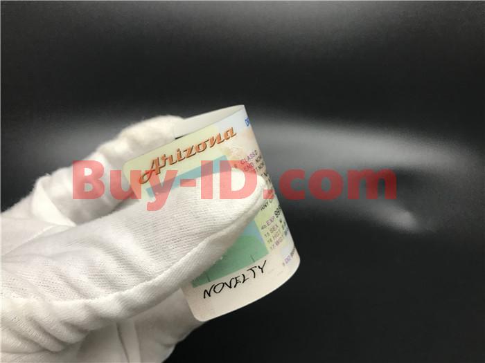 Premium Scannable Arizona State Fake ID Card Bending Display