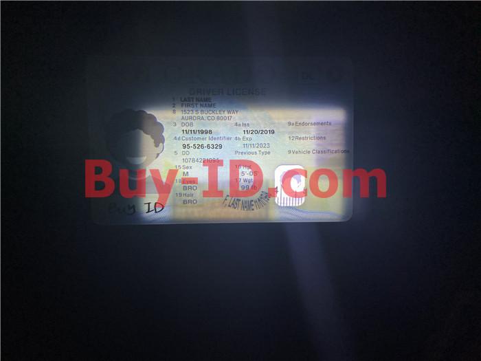Premium Scannable New Colorado State Fake ID Card Small Transparent Window