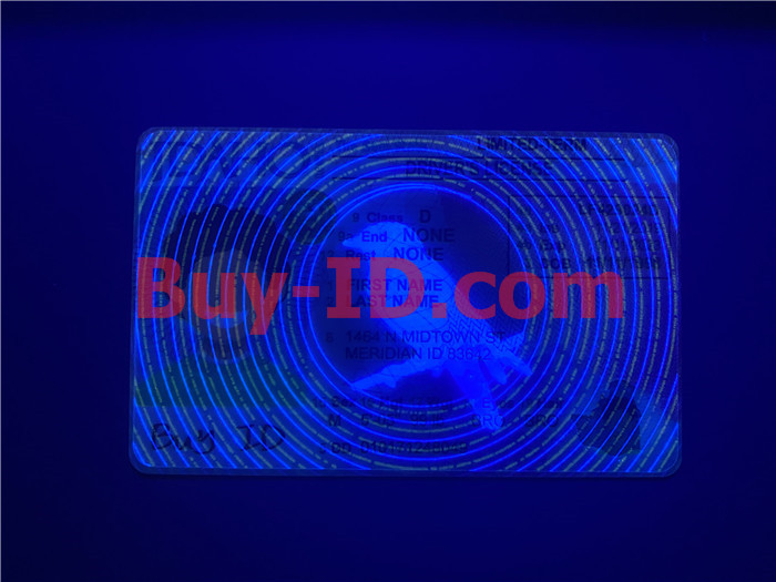 Premium Scannable Idaho State Fake ID Card UV Anti-Counterfeiting Layer