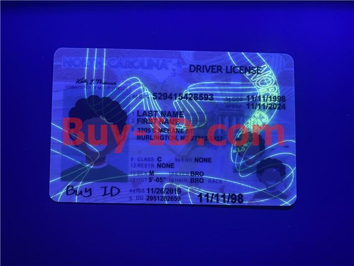 Premium Scannable North Carolina State Fake ID Card UV Anti-Counterfeiting Layer