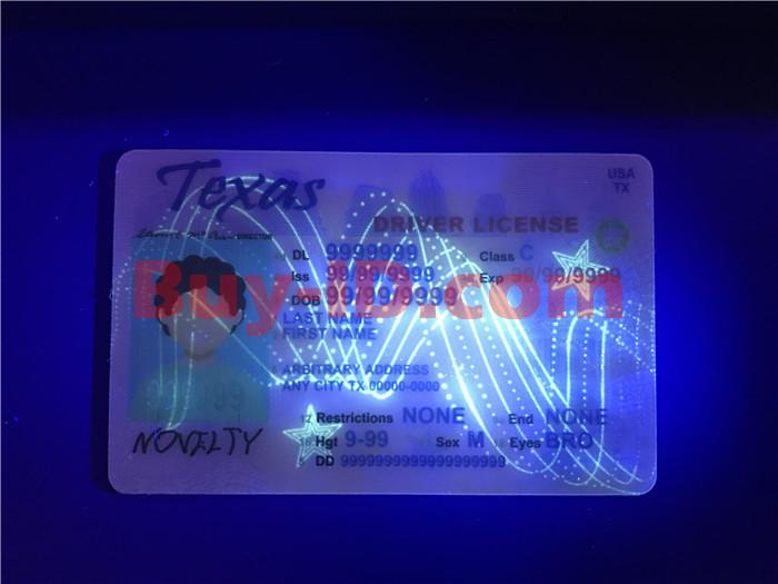 Premium Scannable Texas State Fake ID Card UV Anti-Counterfeiting Layer