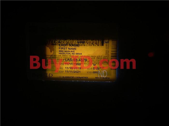 Premium Scannable North Dakota State Fake ID Card Laser Micro-Perforation