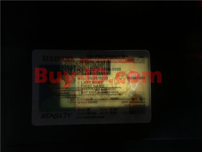 Premium Scannable New Illinois State Fake ID Card Laser Micro-Perforation